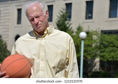 Athlete Senior Male Basketball Coach And Depression