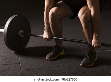 Athlete starting a heavy lift