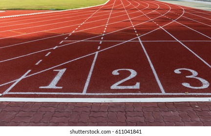 Athlete Track or Running Track with numbers 1 to 3 good for business or motivation
