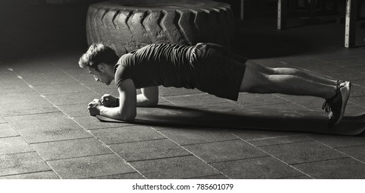 Athlete warming up for his workout