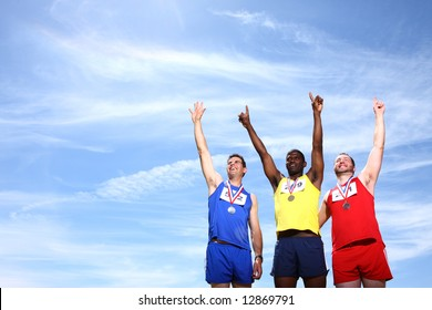Athletes with medals