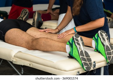 Athlete's Muscles Professional Massage Treatment after Sport Workout, Fitness and Wellness