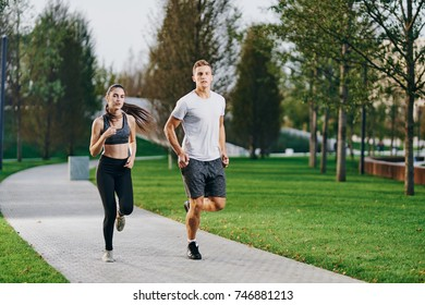 athletes run in the park
