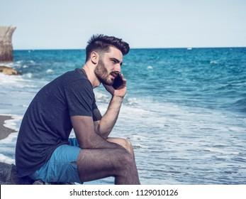 Sexy guy profile
