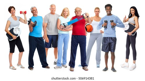 Athletic people group.