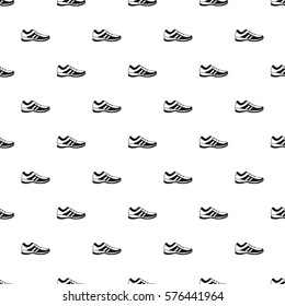 Athletic shoe pattern. Simple illustration of athletic shoe  pattern for web