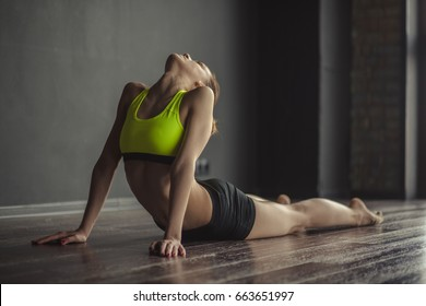 Athletic slim girl