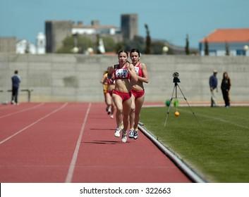 Athletics women´s  running