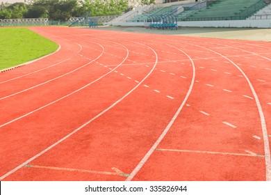 Athletics Track Lane with grass