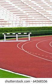 Athletics Track Lanes and Stadium