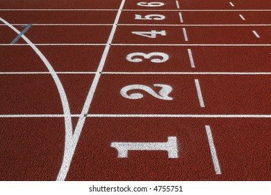 Athletics track, streets and start