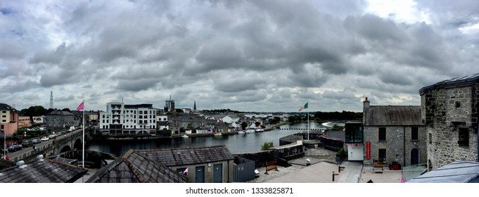 Athlone / Ireland - August 22 2017: City view from Athlone Castle