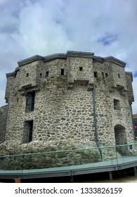 Athlone / Ireland - August 22 2017:  Ahtlone Castle exterior