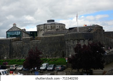 ATHLONE, IRELAND - AUGUST 6: Castle on 6 August 2017 at Athlone. Athlone has a medieval castle.