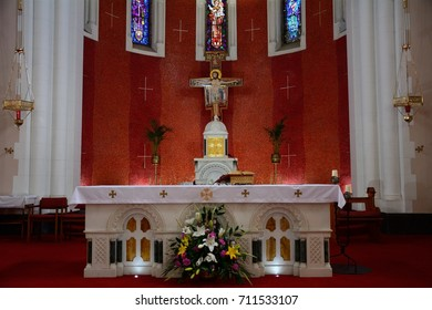 ATHLONE, IRELAND - AUGUST 6: Franciscan friary on 6 August 2017 at Athlone. Athlone is religious town with lots of churches.