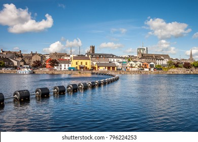 Athlone town and Shannon river, county Westmeath, Ireland