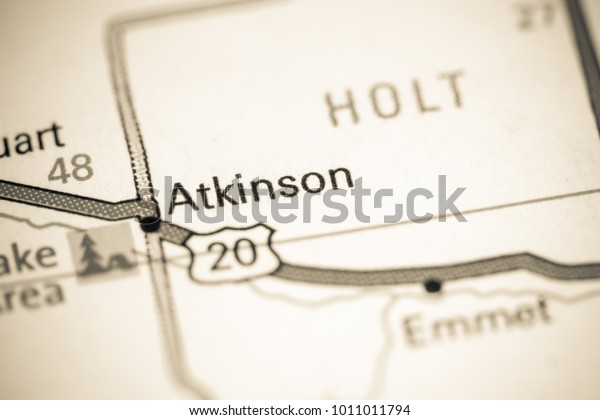 Atkinson Nebraska Usa On Map Stock Photo (Edit Now) 1011011794