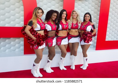 ATL Cheerleaders - Tee Up Atlanta at the College Football Hall of Fame in Atlanta Georgia - USA , September 17th 2018- The Tour Championship PGA Tour golfers