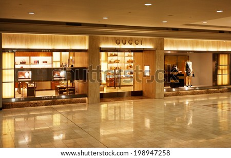 Atlanta April 27 Gucci Store Located Stockfoto Jetzt Bearbeiten