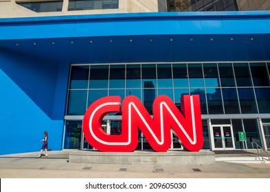 ATLANTA - AUGUST 10: CNN Center in Atlanta on August 10, 2014. The CNN Center is the world headquarters of CNN.