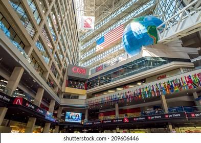 ATLANTA - AUGUST 10: Interior of CNN Center in Atlanta on August 10, 2014. The CNN Center is the world headquarters of CNN.