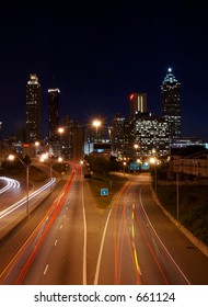 Atlanta Downtown night scene