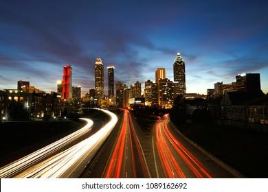 Atlanta Downtown Skyline at Night
