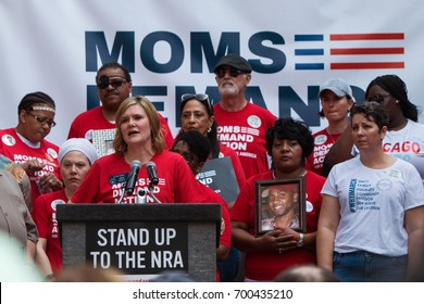 ATLANTA, GA - APRIL 29: Georgia State Senator Elena Parent speaks at a Moms Demand Action anti-gun, anti-NRA rally in Woodruff Park, on April 29, 2017 in Atlanta, GA.