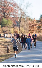 ATLANTA, GA - DECEMBER 5:  People walk and run along the Atlanta Beltline recreational area in the Old Fourth Ward on December 5, 2015 in Atlanta, GA.