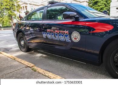Atlanta, Ga  USA - 06 07 20: Atlanta police car