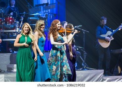 ATLANTA, GA, USA - 9TH MARCH 2017: an all-female Irish ensemble Celtic Woman performs on stage at the Fox Theatre.