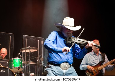 ATLANTA, GA, USA - APRIL 13TH, 2018: The Charlie Daniels Band performs at the Fox Theatre Atlanta.