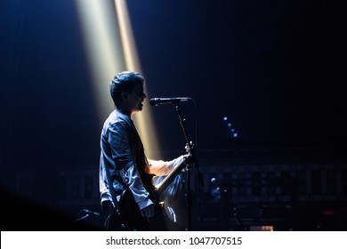 ATLANTA, GA, USA - FEBRUARY 27TH, 2018: British alternative rock back Nothing But Thieves opening for Awolnation at Tabernacle concert hall.