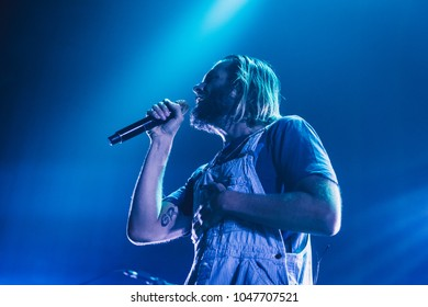 ATLANTA, GA, USA - FEBRUARY 27TH, 2018: American alternative rock band Awolnation performs at Tabernacle.