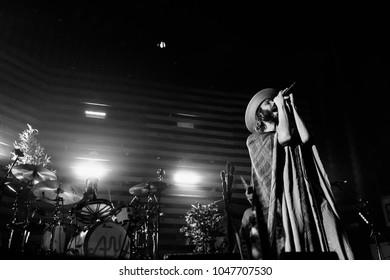 ATLANTA, GA, USA - FEBRUARY 27TH, 2018: American alternative rock band Awolnation performs at Tabernacle.