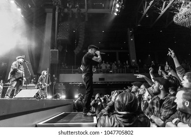 ATLANTA, GA, USA - MARCH 7TH, 2018: An American Celtic punk band Dropkick Murphys performing at the Coca Cola Roxy theater.