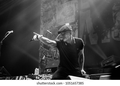 ATLANTA, GA, USA - MARCH 7TH, 2018: an American Celtic punk band Dropkick Murphys performing at the Coca Cola Roxy theatre.