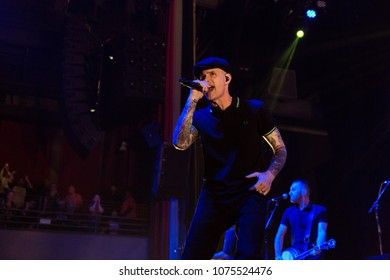 ATLANTA, GA / USA - MARCH 7TH, 2018: an American Celtic punk band Dropkick Murphys performing at the Coca Cola Roxy theatre.
