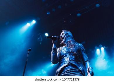 ATLANTA, GA, USA - MARCH 9TH, 2018: Symphonic metal band from Finland Nightwish performs at Tabernacle Atlanta.