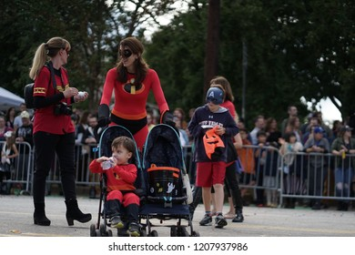 Atlanta, GA, USA - October 20, 2018:  Little Five Points Halloween Parade on October 20, 2017 in Atlanta, GA.