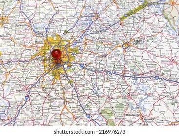 Atlanta Georgia area map