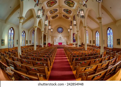 ATLANTA, GEORGIA - DECEMBER 2: Catholic Shrine of the Immaculate Conception on December 2, 2014 in Atlanta, Georgia