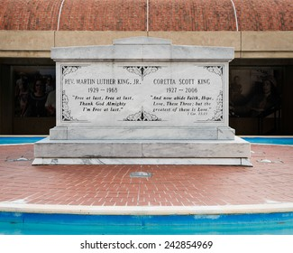 ATLANTA, GEORGIA - DECEMBER 2: Martin Luther King, Jr. and Coretta Scott King Tomb at the Martin Luther King, Jr. National Historic Site on December 2, 2014 in Atlanta, Georgia