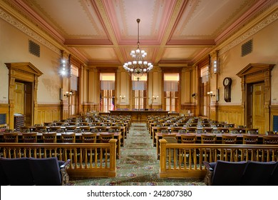 ATLANTA, GEORGIA - DECEMBER 2: Old Supreme Court Chamber (now the Appropriations Room) in the Georgia State Capitol building on December 2, 2014 in Atlanta, Georgia
