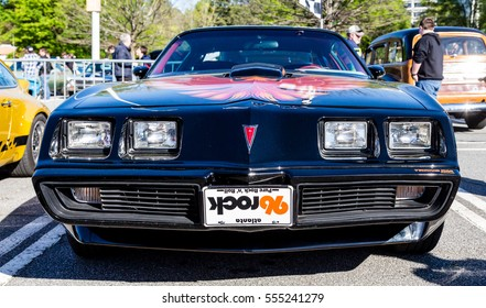 ATLANTA, GEORGIA - July 3, 2016: Caffeine and Octane is a nationally recognized car show held monthly, displaying hundreds of classic and muscle cars at Perimeter Mall.