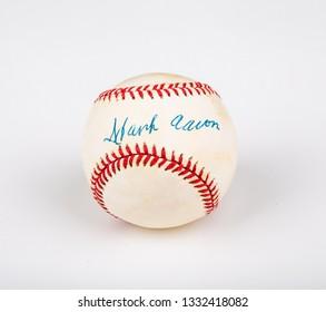 ATLANTA, GEORGIA - March 18, 2017: Hank Aaron played major league baseball fro 1954 through 1976 and hit a record 755 home runs.
