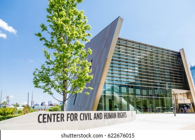 ATLANTA, GEORGIA - May 3, 2015: The National Center for Civil and Human Rights was begun in Atlanta in 2012 by the wives of Joseph Lowery and Ralph David Abernathy.