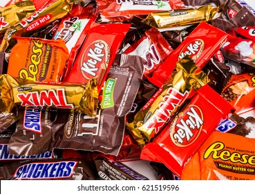 ATLANTA, GEORGIA - November 1, 2014: Mars Chocolate, despite being a family owned business, is a global presence and manufacturer of 29 brands of candy and confectionary