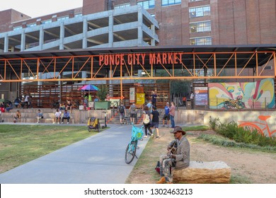Atlanta, Georgia / United States - Circa October 2018: The entrance to the Ponce City Market in Atlanta.