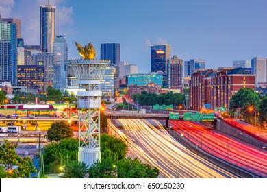Atlanta, Georgia, USA downtown cityscape.
